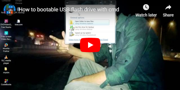How to bootable USB flash drive with cmd