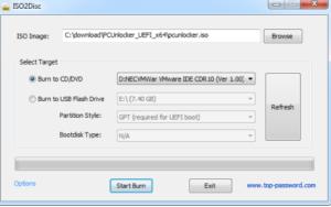 Making Bootable PCUnlocker CD