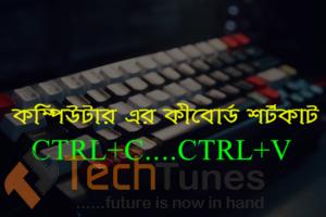 Computer keyboard shortcut keys system