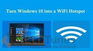 How to convert windows 10 into a WiFi hotspot to share