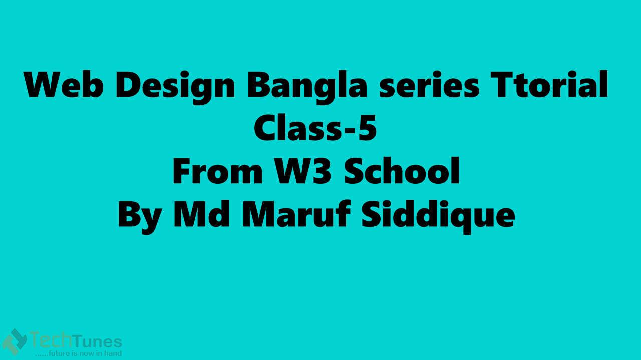 Web Design Bangla Class--5
