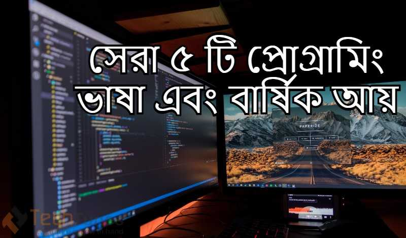 best five programming languages and yearly income