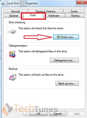 hard disk error fixing